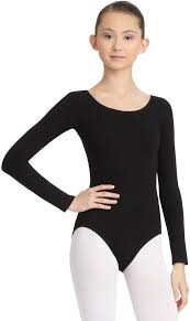 MONDOR Long Sleeve Bodysuit (Adult)  (Black)