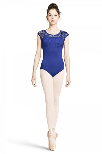 Mirella LACE OVERLAY CAP SLEEVE LEOTARD - ADULT